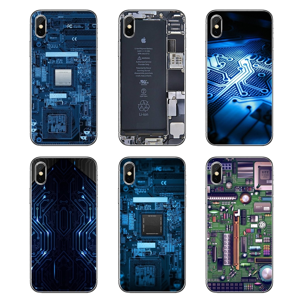 Batería De La Computadora Teléfono Placa De Circuito De Casos Transparentes Para Lg G7 Q6 Q7 Q8 Q9 V30 X Power 2 3 Para Oneplus 3 T 5 T 6 T