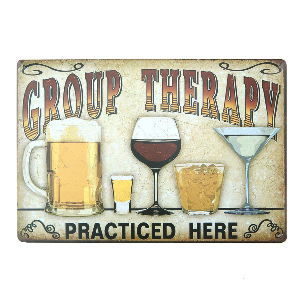OCDAY Vintage Painting Signs Poster Plaque Retro Metal Iron Bar Pub Club Wall Painting Cafe Bar Poster Iron Painting 20x30cm