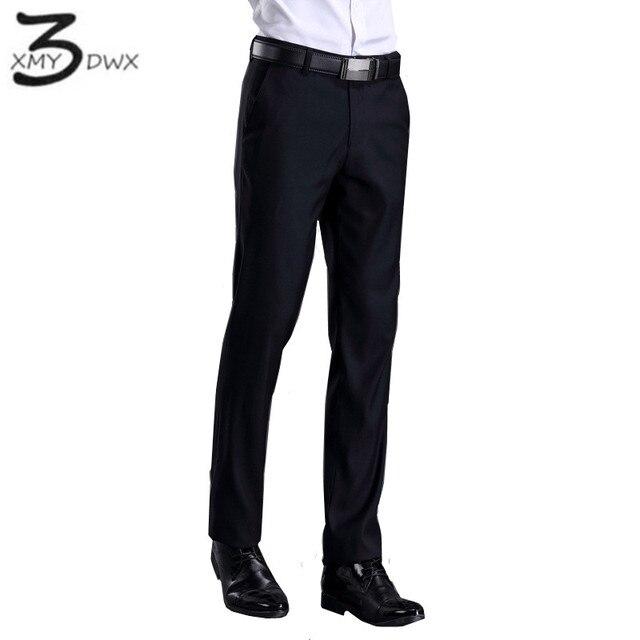 XMY3DWX New fashion male high-grade slim fit business Suit pants/Male leisure pure color Casual pants/men Thin leg pants 28-42