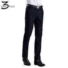 XMY3DWX Новая мода мужской полноценно Slim Fit деловой костюм Штаны/мужской отдых чистого цвета повседневные штаны/Мужчины Тонкий ноги Штаны 28-42