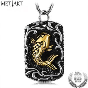 MetJakt 925 Sterling Silver Gold Chain Necklace Men Jewelry