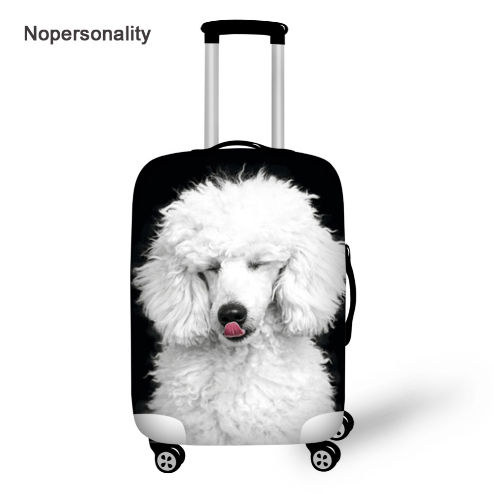 Nopersonality Cute Poodle Dog Print Luggage Protective Dust Cover Stretch 18-30inch Travel Suitcase Cover Travel Accessories