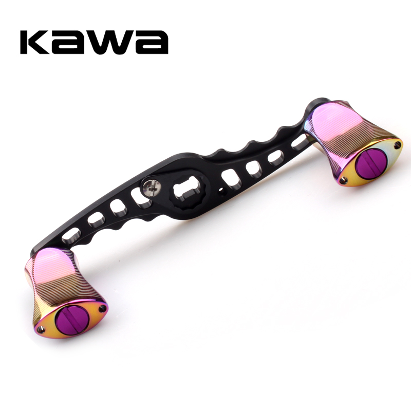 2018 Kawa Fishing Reel Handle Aluminum Alloy Rainbow Color Knob Fishing Rocker suit for Abu and Daiwa Reel Hole size 8X5mm
