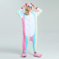 Unicorn pajamas Pink Leopard Adult Flannel pajamas Cartoon Animal Onesies Woman Sleepsuit Jumpsuit Costumes Kigurumi S L M XL
