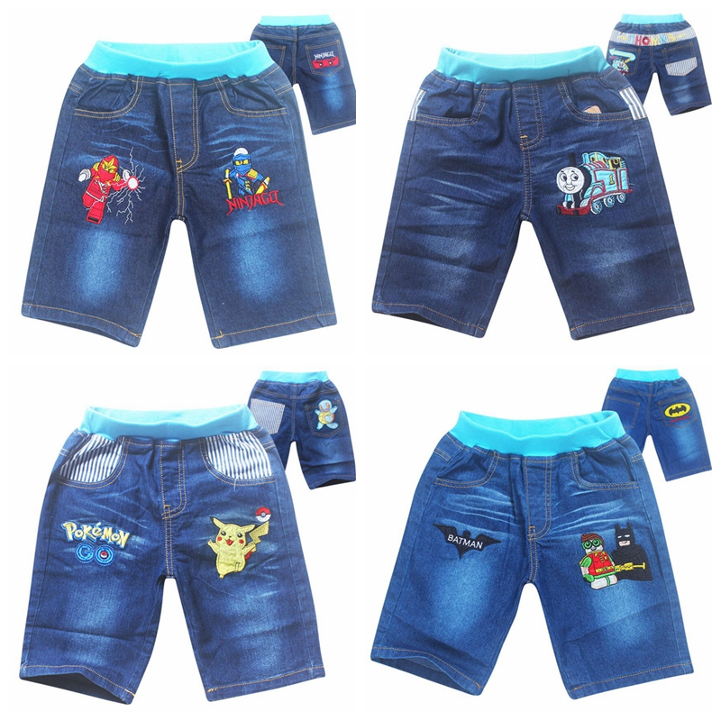 New summer  boys jeans short cotton kids clothing childrens shorts pants baby cartoon style