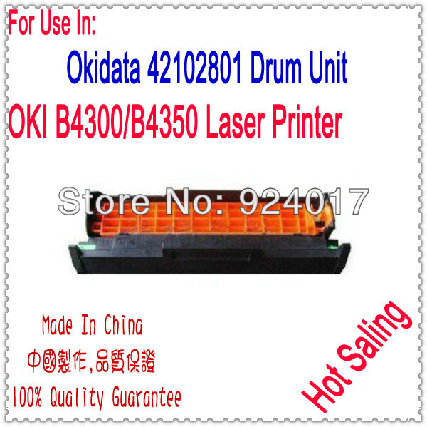 Drum Unit For OKI B4300 B4350 Printer,Use For Okidata 42102801 Drum Unit,For OKI 4300 4350 Image Drum Unit,For OKI Drum Unit powder for oki data 700 for okidata b 730 dn for oki b 720 dn for oki data 710 compatible transfer belt powder free shipping