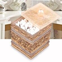Hisopo de algodón caja de Palillos palillos caja Contenedor De Almacenamiento Caja Palillo de Dientes Palillero Dispensador de resina Sintética