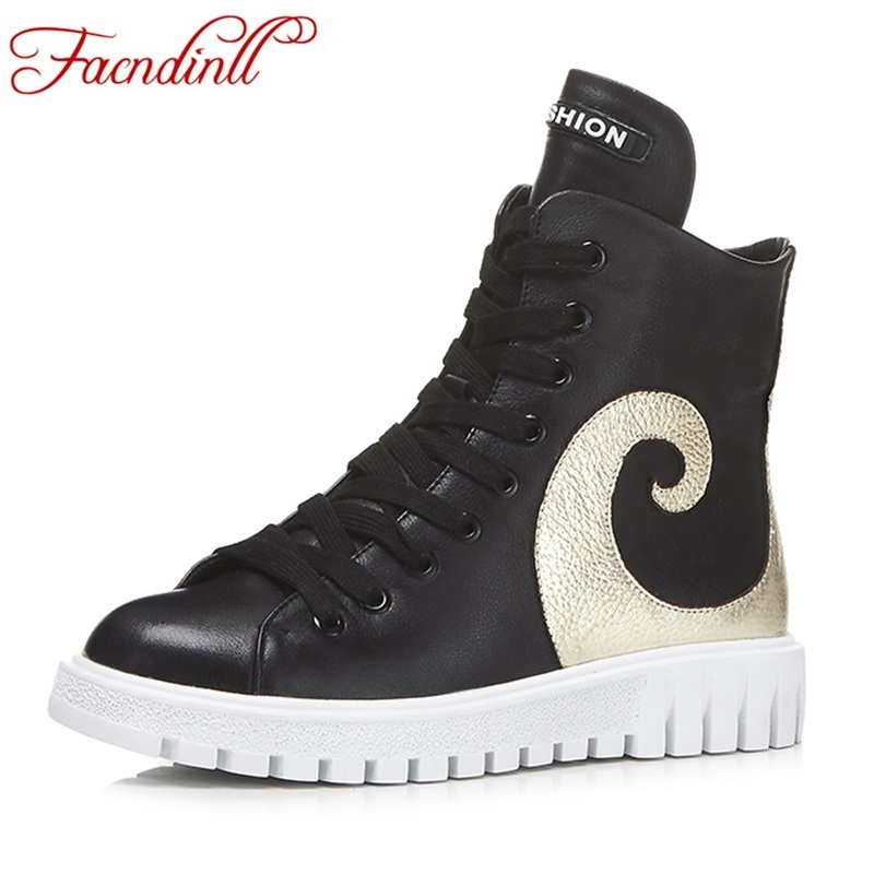 FACNDINLL new women shoes genuine leather ankle boots fashion casual flat heel black shoes fashion round toe spring autumn boots women spring autumn thick mid heel genuine leather round toe 2015 new arrival fashion martin ankle boots size 34 40 sxq0902