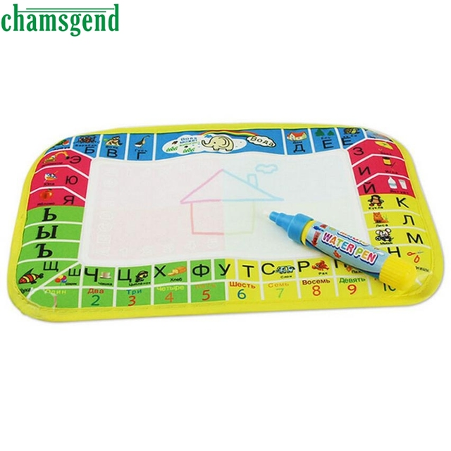HOT New Water Drawing Painting Writing Mat Board Magic Pen Doodle Gift 25X16.5cm AUG 29