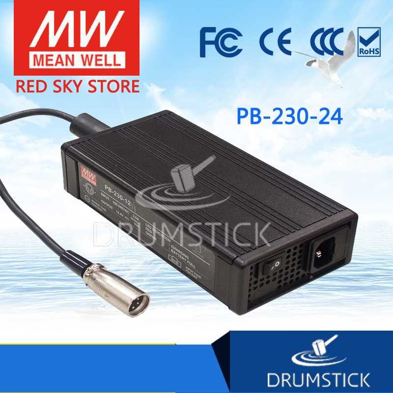 Advantages MEAN WELL original PB-230-24 28.8V 8A meanwell PB-230 28.8V 230W Single Output Battery Charger mean well original pb 120n 54p 55 2v 2 2a meanwell pb 120n 55 2v 121 44w power supply or battery charger