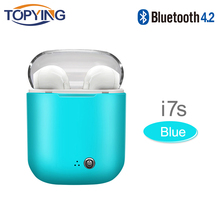 in-ear for I7 i7s tws Bluetooth Earphone Earbuds Headset wireless headphone With Mic For iphone xiaomi huawei with charging box samload wireless headphone bluetooth earphone i7s tws charging case music earbuds for apple headset iphone se 7 8 xiaomi huawei
