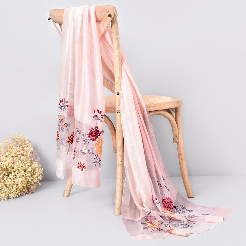Жібек жүнінен жасалған шарф 2019 сәнді - Киімге арналған аксессуарлар - фото 4