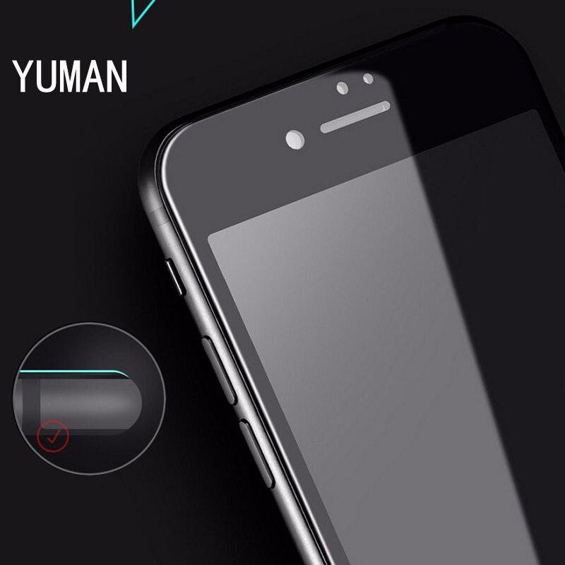 För iPhone 7 6 6s skärmskydd Härdat glas Hel täckning 3D böjd - Reservdelar och tillbehör för mobiltelefoner - Foto 2