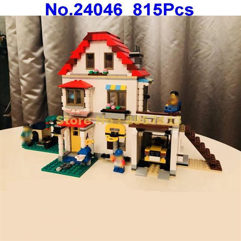 24046 815pcs 3in1 Creative Series Family Villa Lepin Building Blocks Compatible 31069 Brick Toy