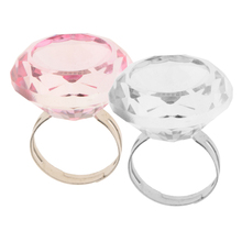 2 Pieces Adjustable Crystal Glass Ring Pigment Cup Adhesive Holder Eyelash Extention Glue Tattoo Tool, Clear Pink Mixed