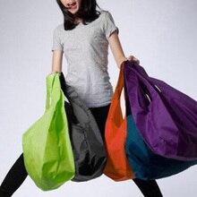 1 шт., портативная складная сумка для покупок, большие нейлоновые сумки, Толстая сумка, Складная Водонепроницаемая Рипстоп сумка на плечо, сумочка