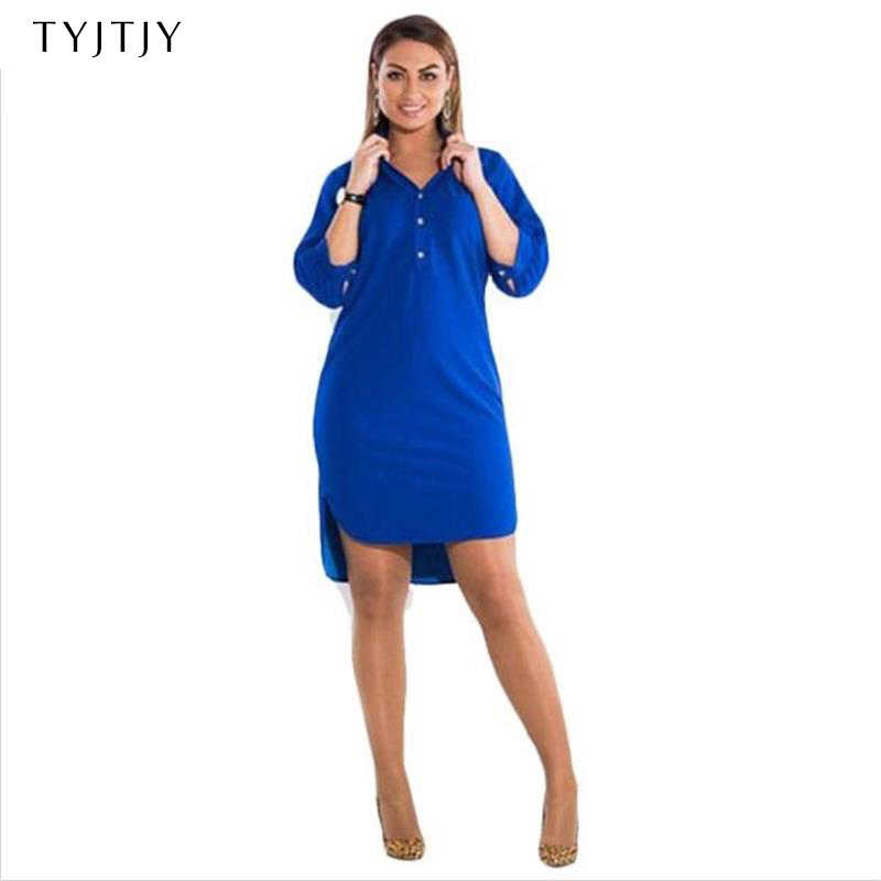 1a02f465d31c639 Большие размеры 6XL 2019 жира мм женское платье летние однотонные пикантные  разделение нерегулярные рубашка платья для