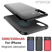 NTSPACE отдельный беспроводной зарядный чехол для аккумулятора для iPhone XS MAX XR чехол для питания для iPhone X XS резервный внешний аккумулятор чехол для зарядки