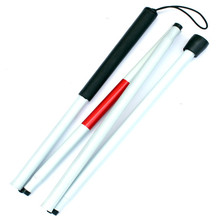 Folding cane Blind sticks Adjustable cane Blind crutches Guide blind cane Lightweight aluminum alloy material for easy carrying