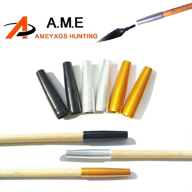 12Pcs Jousiammunta Alumiini Nuoli Lisäys Metsästysbambu Arrows Arrow Heads Laajennukset 8.0mm tir a l'arc accessoire