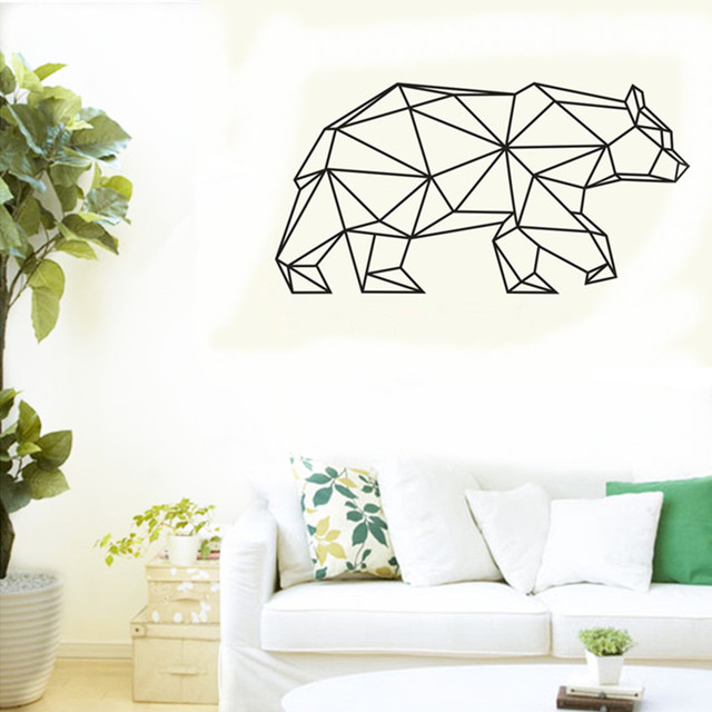 Bear Wall Art aliexpress : buy cacar new design geometric bear wall sticker