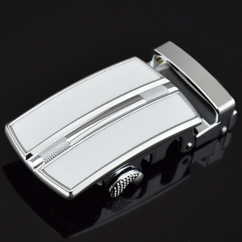 Hot Selling Men's Belt Head Automatic Buckling Head Men Belt Head Business Leisure LY10257- White Automatic Belt Buckle
