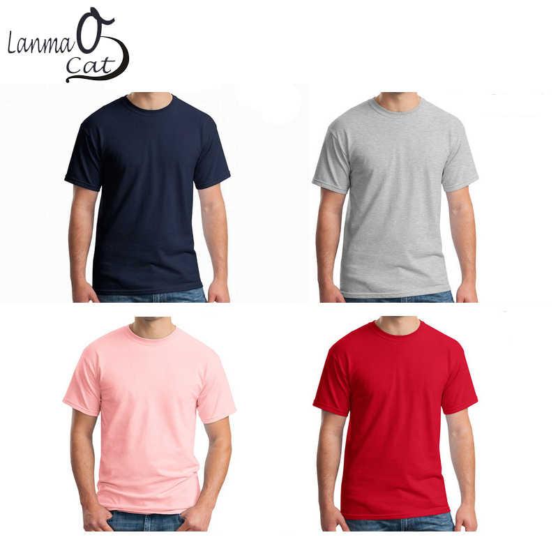 ed6959a3 ... Lanmaocat Men Cotton T Shirt Custom Text Personalized T-shirts Custom  Print Logo Men Shirts ...