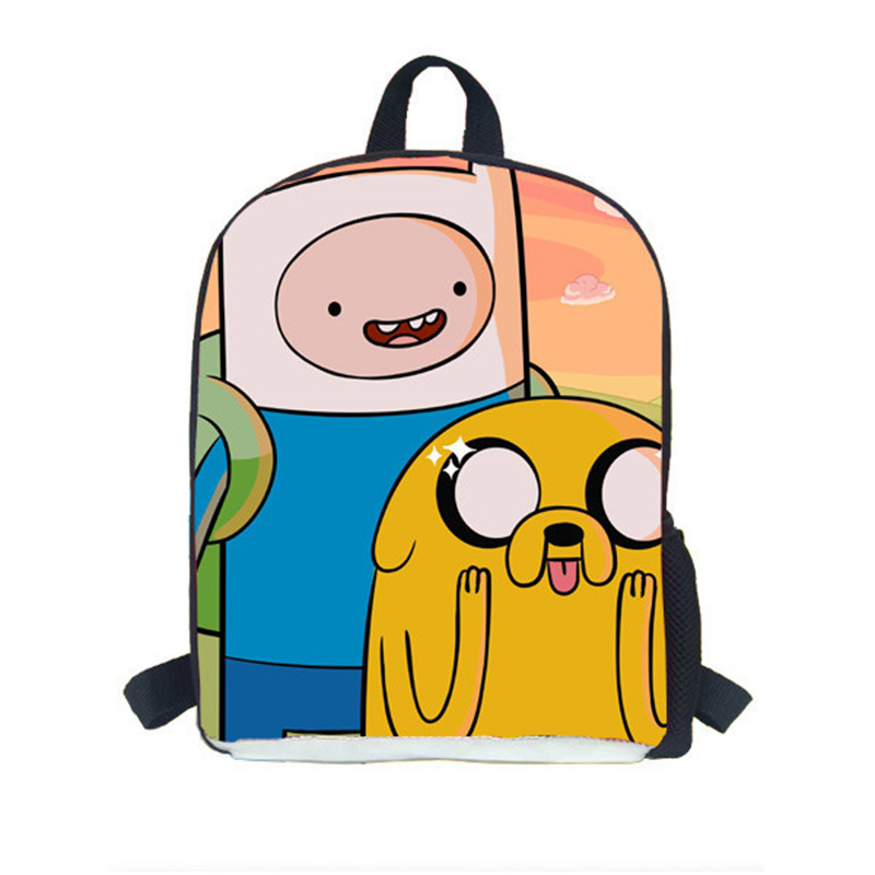 Nursery Small Bookbag Rucksack New Fashion Kid Cartoon 3D Adventure Time Printing Backpack Children Student School Bag Jake Finn