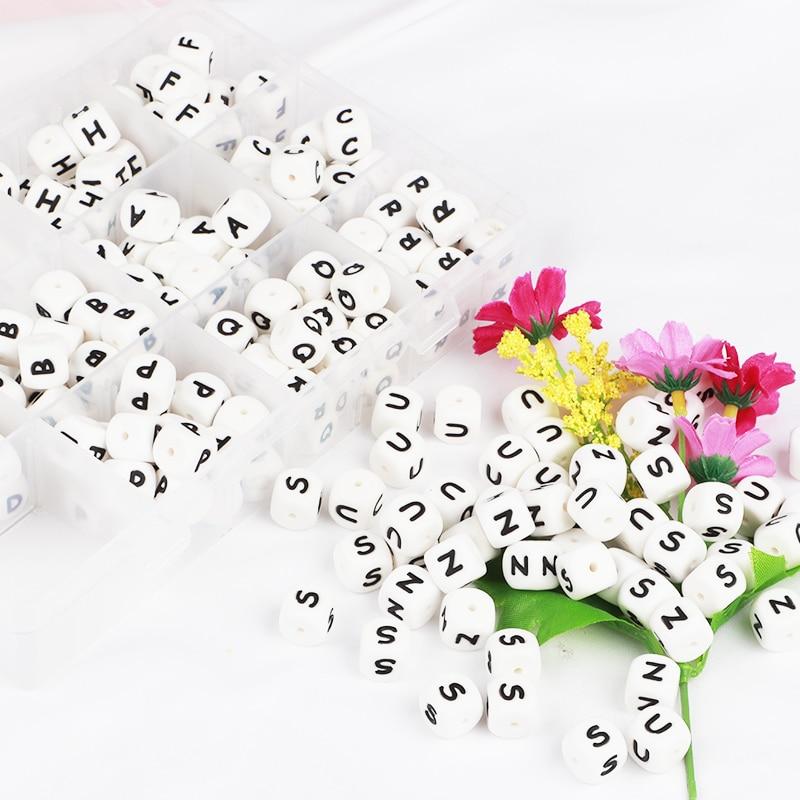 TYRY.HU 10 copë Letra Silicone Përpjekje Beads Foshnja përtypet - Kujdesi për foshnjen