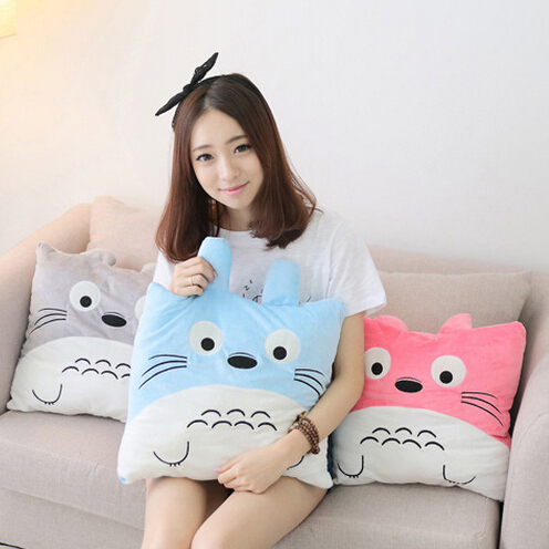 1pc 40cm Cute Totoro Plush Pillow 3 Colors Staffed Cartoon Totoro Cushion Kawaii Toy for Girls Nice Birthday Gift