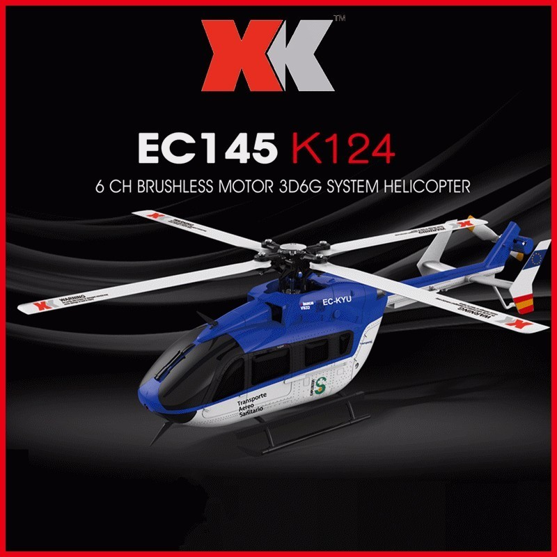 Original XK K124 EC145 6CH Brushless motor 3D 6G System RC Helicopter Compatible with FUTABA S-FHSS RTF VS Wltoys V977Original XK K124 EC145 6CH Brushless motor 3D 6G System RC Helicopter Compatible with FUTABA S-FHSS RTF VS Wltoys V977