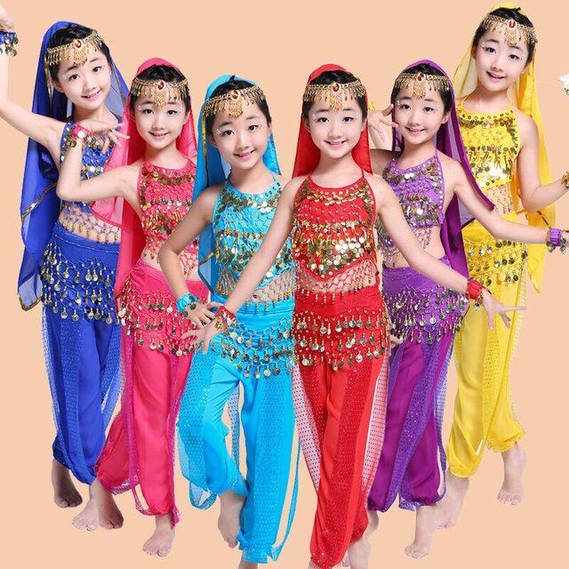 Belly Dance Children Indian Costume Set 7 Piece Bollywood Dance