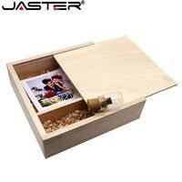 JASTER 205*205*60mm Photo Album Wooden USB + Box usb flash drive Memory stick Pendrive 8GB 16GB custom LOGO Photography Wedding