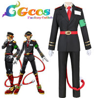 CGCOS Free Shipping Cosplay Costume Nanbaka Detentionhouse Samon Goku Uniform Halloween Christmas Party