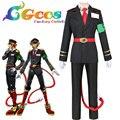 Envío Gratis Cosplay Nanbaka CGCOS Detentionhouse Samon Goku Uniforme Fiesta de Navidad de Halloween