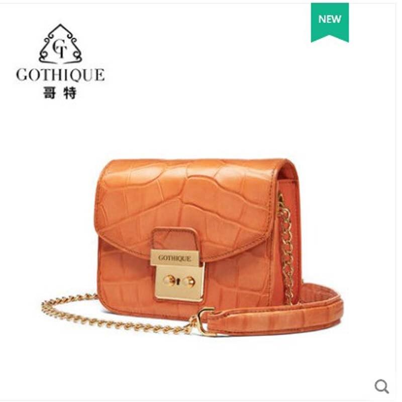 gete Alligator skin bag for women 2019 new leather cross-body bag alligator belly bag for women trend single shoulder bag