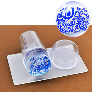 Scraper Nail-Stamp Stamping-Tools Transparent Silicone New-Design Jelly Clear Pure