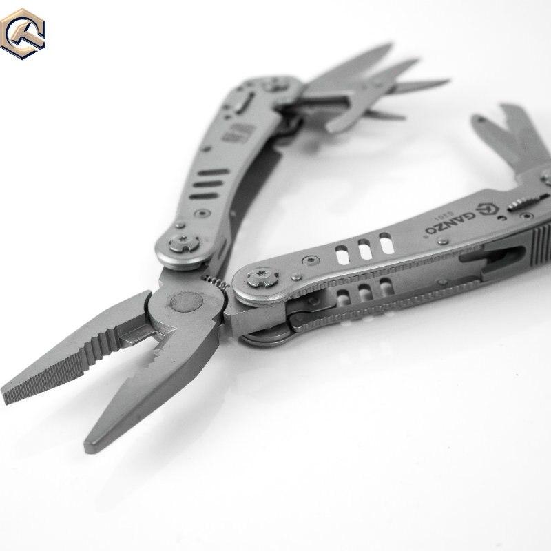 Ganzo G301 Multifunctional EDC Tools Multi Survival knife Scissors Saw Lock bit long nose Multi folding