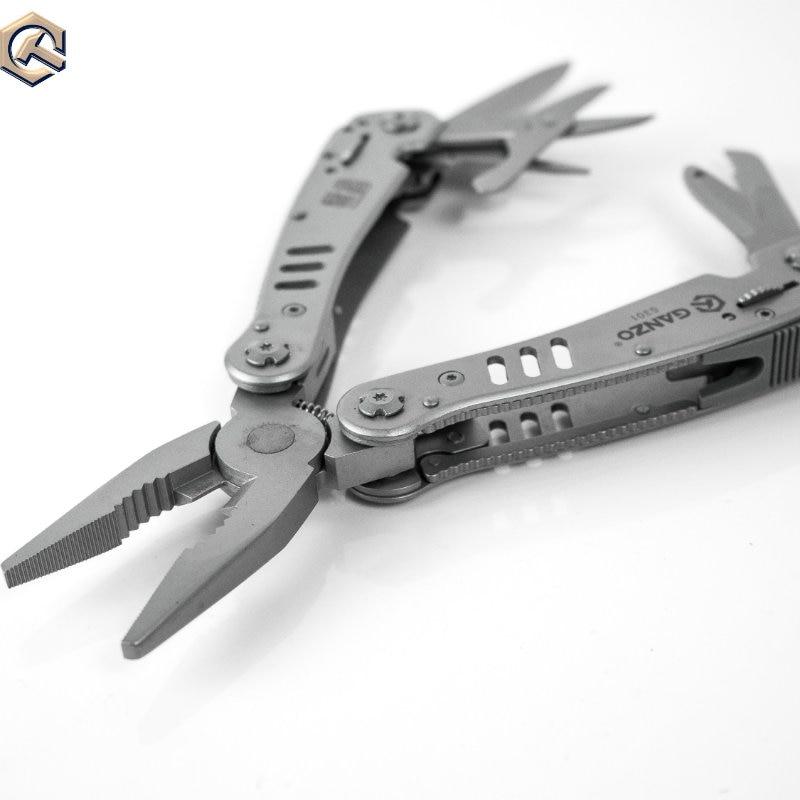Handwerkzeuge Zangen Sonderabschnitt Ganzo G301 Multifunktionale Edc Werkzeuge Multi Überleben Messer Schere Sah Lock Bit Lange Nase Multi Folding Werkzeug Zangen