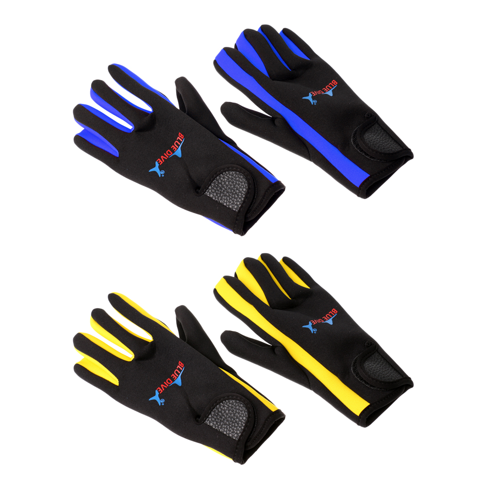 1 Pair 1.5mm Neoprene Five Finger Wetsuits Diving Glove  Anti-scratch Anti-slip Comfortable Durable Winter Swimming Gloves