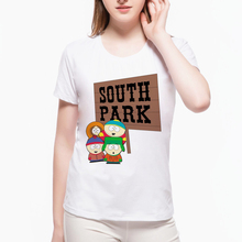 South Park Fashion cartoon women's T-shirt Geek Funny Design T-shirt Cartoon Short Sleeve O Neck Girl Tshirt Tees D3-1#