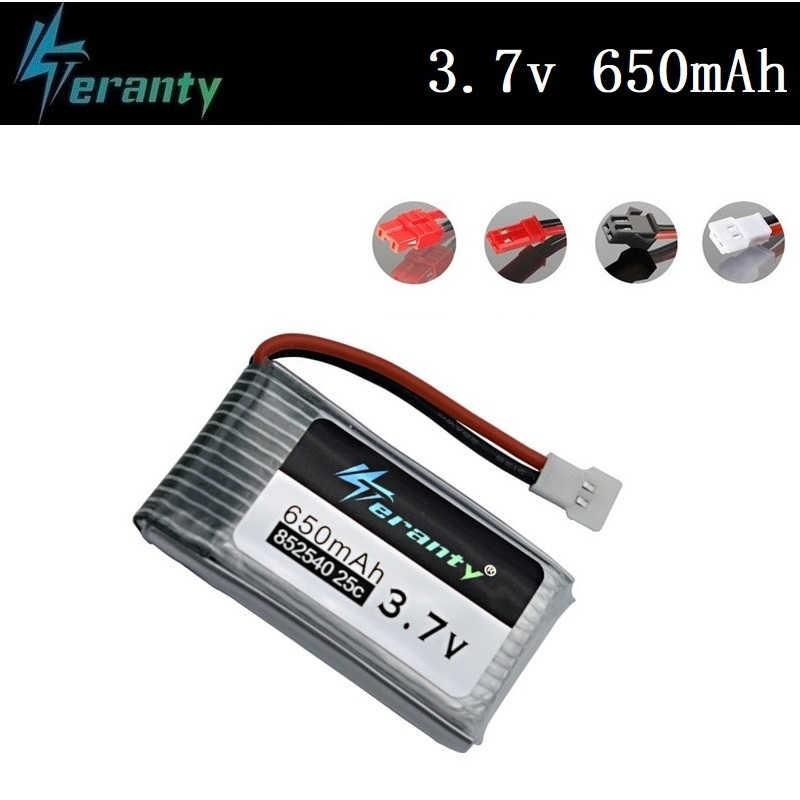 Teranty 電源 3.7V 650 3.7v 240mah リポバッテリー Syma の X5C X5C-1 X5 H5C X5SW 852540 3.7V ドローン充電式リチウム電池 1 ピース/セット