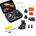 TELESIN Gopro Accessories Kit Middle Size Carry Case + Suction Cup Mount + Wrist Strap + Floating Handle Grip+ Anti-fog Inserts
