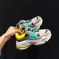 Fashion Lovers Shoes Harajuku Wind Shoes Retro Sneaker Shoes Ins Super Fire Thick Sole Leisure Shoes