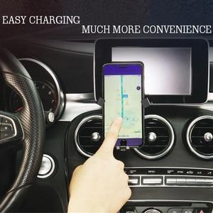 Image 2 - Универсальный металлический держатель для мобильного телефона, вентиляционное отверстие, 360 градусов, автоматическая подставка для Mercedes Benz GLA CLA GLC, c класс