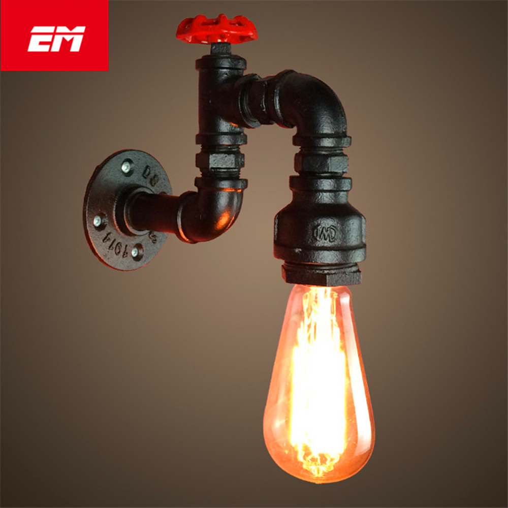 Modern Vintage Loft Adjustable Industrial Metal Wall Light retro Water pipe E27 wall lamp country style Sconce Lamp ZBD0003 цена