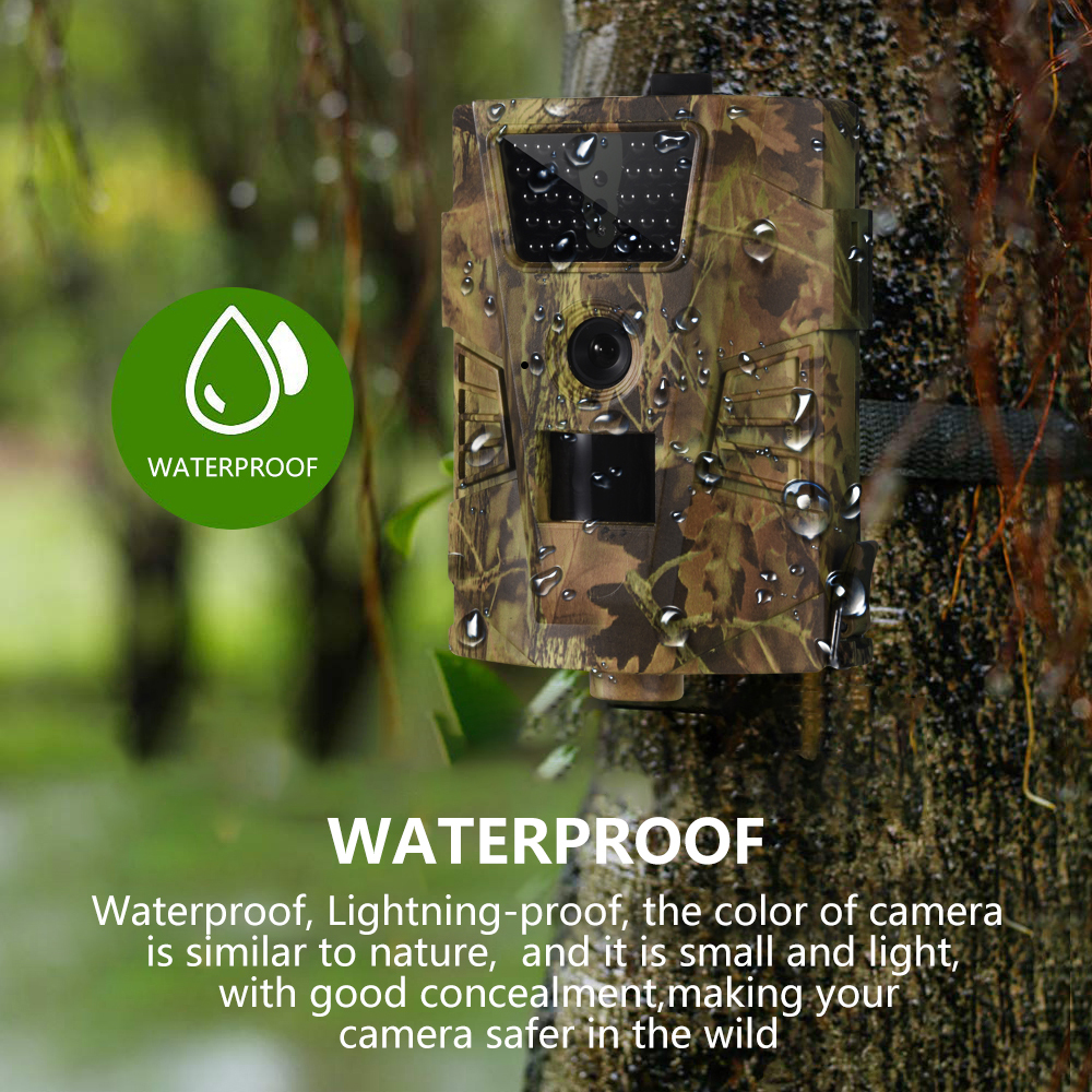 Image 2 - Goujxcy HT 001B Trail Camera 30pcs 850nm Infrared Leds Hunting Camera Scout Waterproof 120 Degree Camera photo traps Wild Camera-in Hunting Cameras from Sports & Entertainment