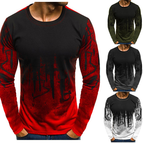 FLYFIREFLY Men Camouflage Printed  Male T Shirt Bottoms Top Tee Male Hiphop Streetwear Long Sleeve Fitness Tshirts Dropshipping Karachi