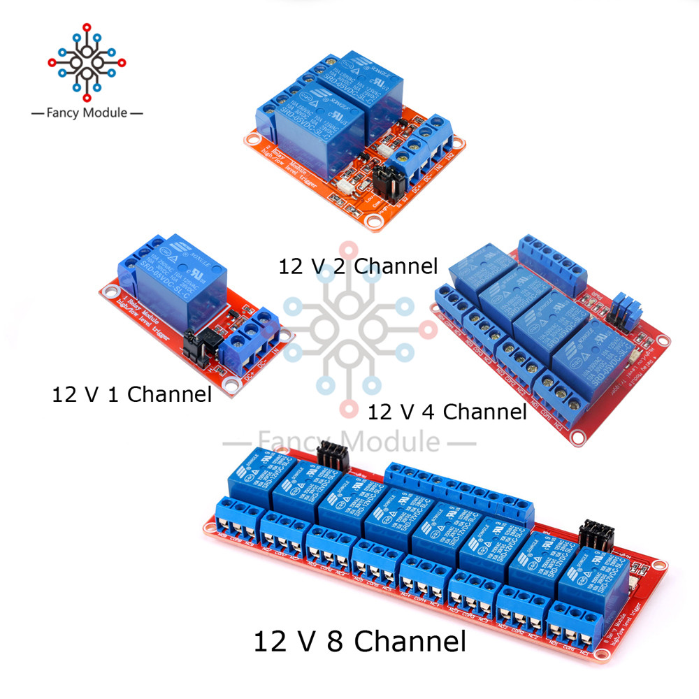 Relay Board Shield with Optocoupler High & Low Lever Trigger for Ardiuno 12V 1/2/4/8 Channel Power Supply Relay Module 1pcs 5v 1 2 4 8 channel relay module with optocoupler relay output 1 2 4 8 way relay module for arduino