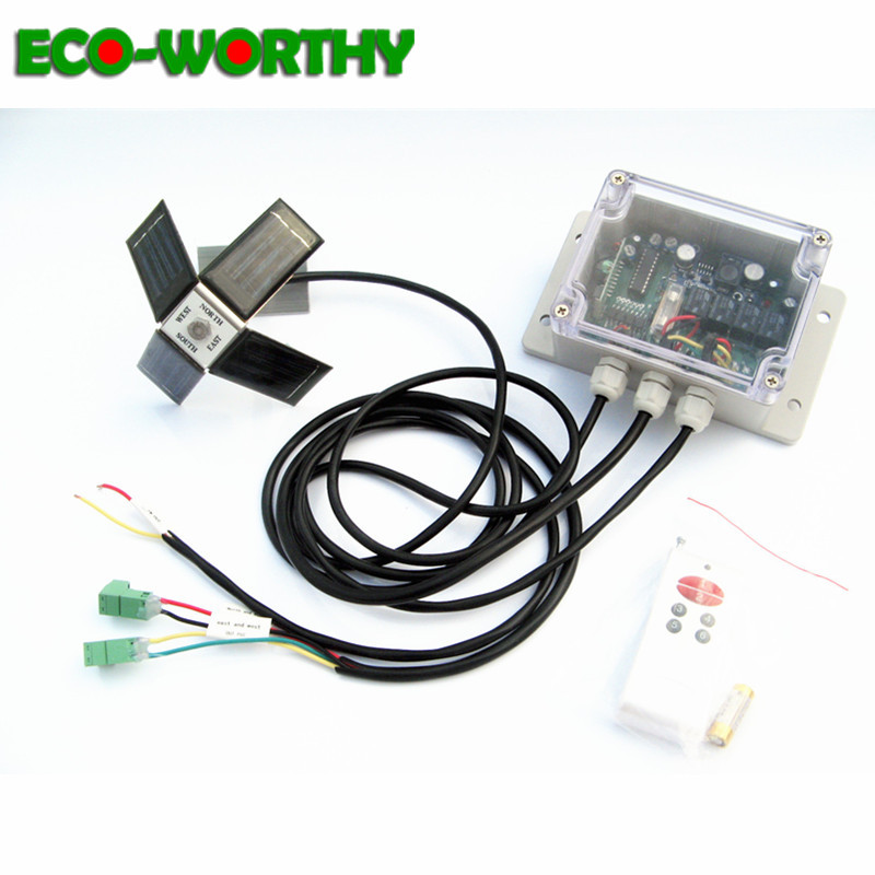 ECOworthy Dual Axis Solar Tracker Linear Actuator Controller Complete Electronic Sun Track Complete Solar Tracking kit